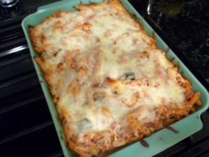... three cheese baked ziti with eggplant recipes dishmaps baked ziti ziti